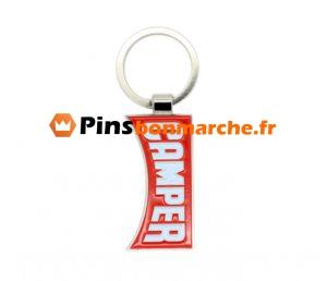 Porte-clés métalliques personnalisés aux couleurs de l'émail