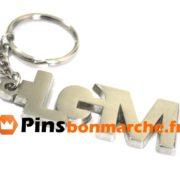 Porte-clefs personnalises logo d'entreprise metal