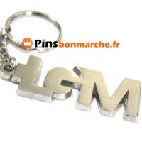 Porte clefs personnalises logo argent