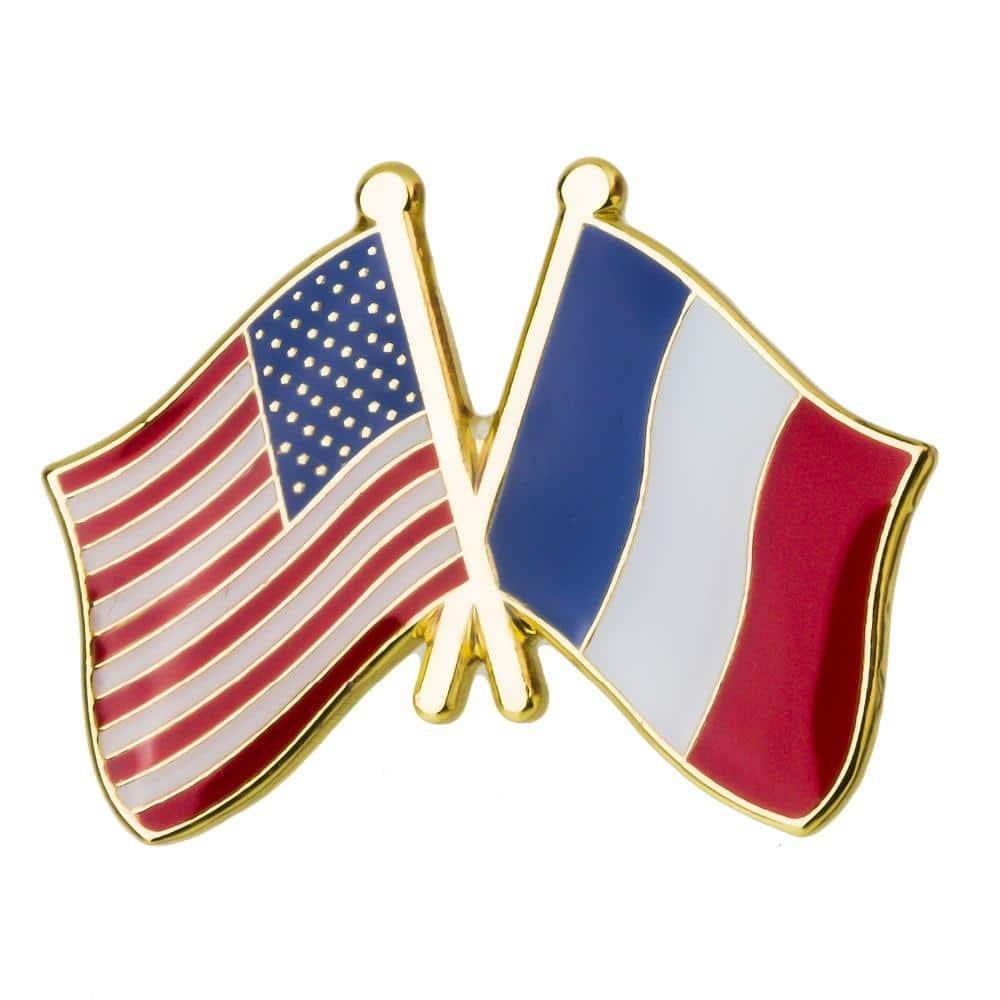 pin's drapeau france usa
